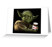Yoda with Nutella Greeting Card