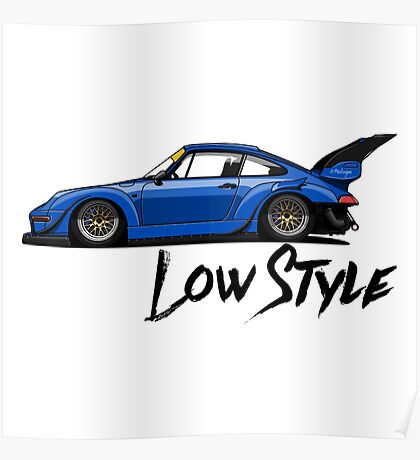 RWB profile (blue) Poster