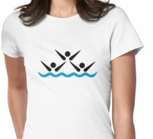 Synchronized swimming Womens Fitted T-Shirt