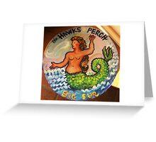 The Hawks Perch, Big Sur Greeting Card