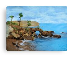 Model Key Hole Arch En plein air Canvas Print