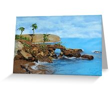 Model Key Hole Arch En plein air Greeting Card