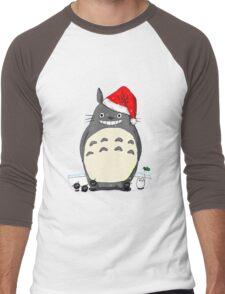 Totoro Christmas Santa Style Men's Baseball ¾ T-Shirt