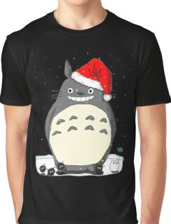 Totoro Christmas Santa Style Graphic T-Shirt