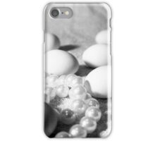 white on white - eggs and necklace iPhone Case/Skin