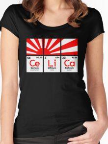 Cerium Lithium Calcium rising sun (2) Women's Fitted Scoop T-Shirt