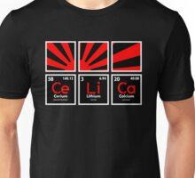 Cerium Lithium Calcium rising sun (3) Unisex T-Shirt
