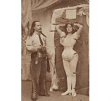 Vintage Knife Thrower Photographic Print