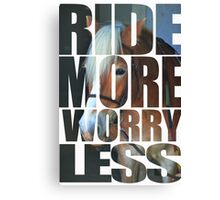 Ride More (White) Canvas Print