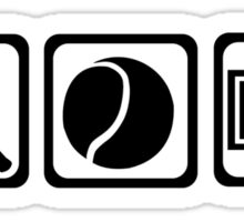 Tennis equipment Sticker
