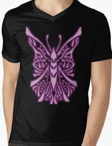 Elegant Butterfly Violet Mens V-Neck T-Shirt