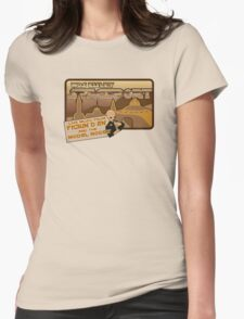 Sat Wars Mos Eisley Spaceport  Womens Fitted T-Shirt
