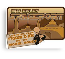 Sat Wars Mos Eisley Spaceport  Canvas Print