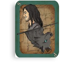 Sirius Black Playing Card Canvas Print