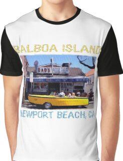 Balboa Island Boat Car- Newport Beach Graphic T-Shirt