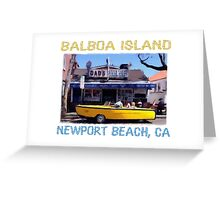 Balboa Island Boat Car- Newport Beach Greeting Card