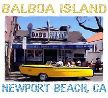 Balboa Island Boat Car- Newport Beach Photographic Print