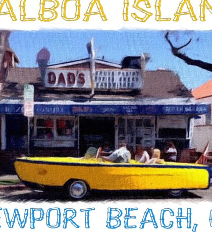 Balboa Island Boat Car- Newport Beach Sticker