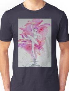 WHITE SILHOUETTE DANCER 1 Unisex T-Shirt
