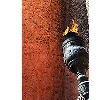 Burning Flame Photographic Print