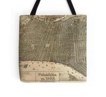 Vintage Pictorial Map of Philadelphia PA (1888) Tote Bag