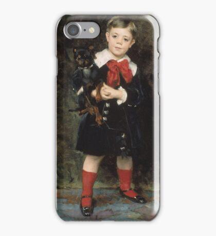 John Singer Sargent - Robert 1879. Child portrait: cute baby, kid, children, pretty angel, child, kids, lovely family, boys and girls, boy and girl, mom mum mammy mam, childhood iPhone Case/Skin