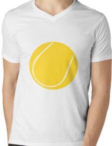 Yellow Tennis ball Mens V-Neck T-Shirt