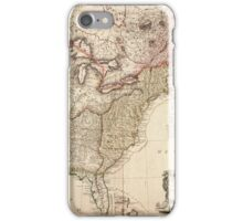 Vintage Map of North America iPhone Case/Skin