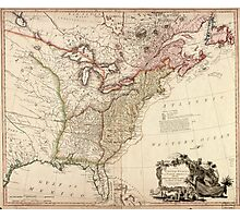 Vintage Map of North America Photographic Print