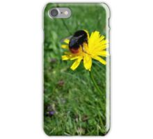 Bee on yellow flower iPhone Case/Skin