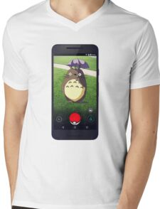 Wild Totoro Appeared Mens V-Neck T-Shirt