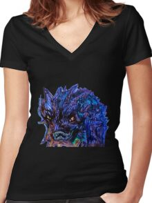 Smaug Design Women's Fitted V-Neck T-Shirt