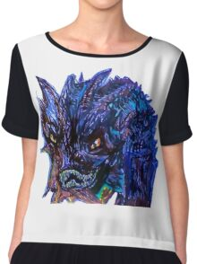 Smaug Design Chiffon Top