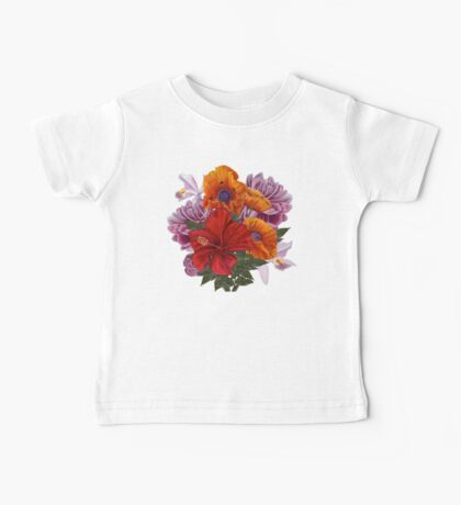 Bouquet (white background) Baby Tee