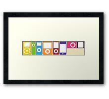 Apple iPod Lineup Framed Print