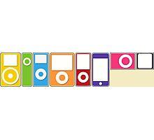 Apple iPod Lineup Photographic Print