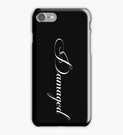 DAMAGED - black vrs. iPhone Case/Skin