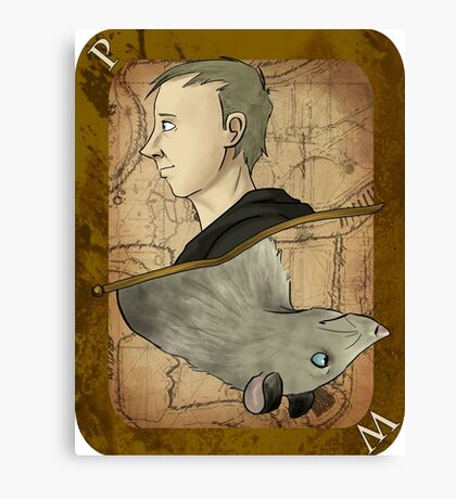 Peter Pettigrew Playing Card Canvas Print