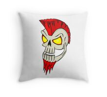 Punk Skull Throw Pillow