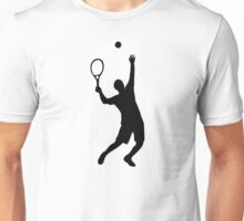 Tennis player service Unisex T-Shirt