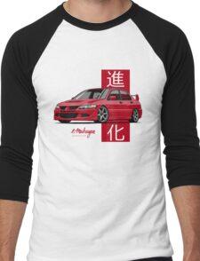 Mitsubishi Lancer Evolution VIII (red) Men's Baseball ¾ T-Shirt