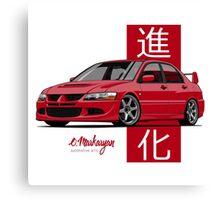 Mitsubishi Lancer Evolution VIII (red) Canvas Print