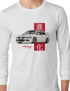 Mitsubishi Lancer Evolution VIII (white) Long Sleeve T-Shirt