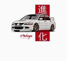 Mitsubishi Lancer Evolution VIII (white) Unisex T-Shirt