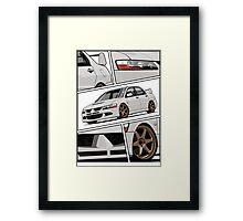 Mitsubishi Lancer Evolution VIII (white) Framed Print