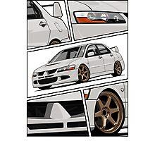 Mitsubishi Lancer Evolution VIII (white) Photographic Print