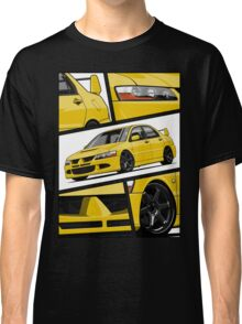 Mitsubishi Lancer Evolution VIII (Yellow) Classic T-Shirt