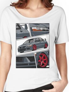 Mitsubishi Lancer Evolution VIII (gray) Women's Relaxed Fit T-Shirt