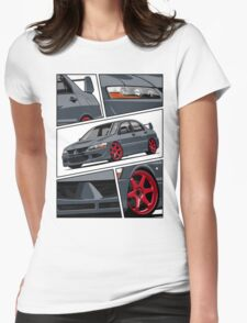 Mitsubishi Lancer Evolution VIII (gray) Womens Fitted T-Shirt