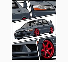 Mitsubishi Lancer Evolution VIII (gray) Unisex T-Shirt